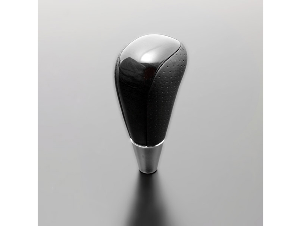 Origin Labo - Hiace 200 Combination Shift Knob Black Grain - Dark Gray Punching Leather